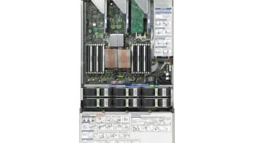 Top view of Sun Microsystems Sun Fire X4275 storage server