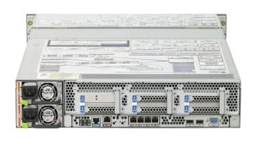 Rear view of Sun Microsystems Sun Fire X4275 storage server