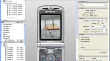 Step 2: A mobile device simulator lets you see how an image will perform in the real world.