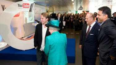 YouTube founder Chad Hurley gets a chance to meet the Queen.