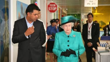 Her Majesty starts the tour.