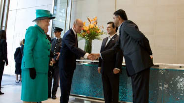The Queen is welcomed by Google execs.