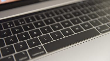 Close-up of the Apple MacBook Pro 15in (2018) keyboard