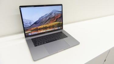 The Apple MacBook Pro 15in (2018) with the lid open