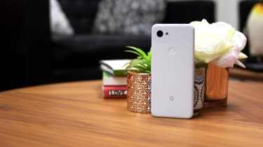 Google Pixel 3a on table