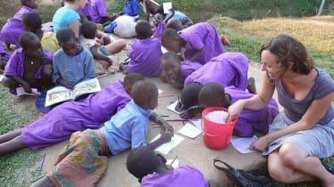 Students at KAASO in Uganda