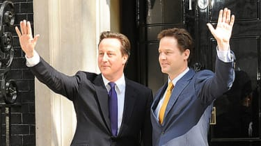 Coalition's Clegg and Cameron at Number 10