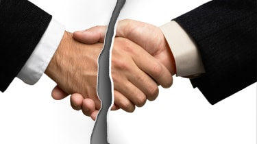 Broken handshake (end of business deal)