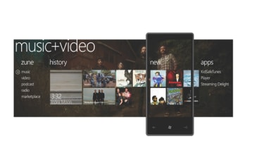 Windows Phone 7 Music screen