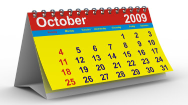 Calendar open on October 2009