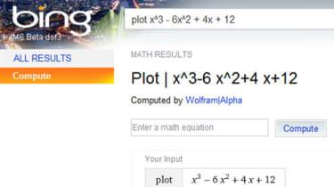 Bing using Wolfram Alpha