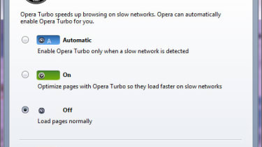 Opera Turbo settings