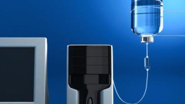 Saline drip into computer hard drive