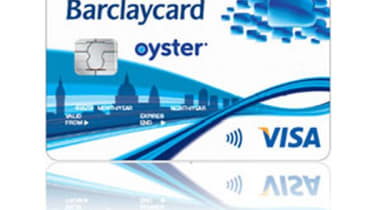 Barclaycard Oyster contactless payment card
