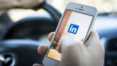 LinkedIn on a mobile device