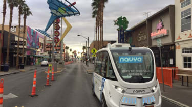 Navya driverless shuttle