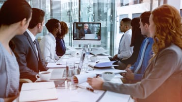 Video conferencing established in a workplace