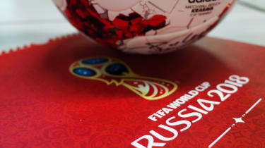 The football from the 2018 FIFA World Cup hosted in Russia