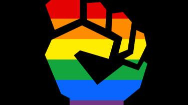 LGBTQ hand