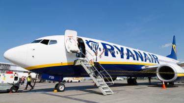 Ryanair pilot boarding plane