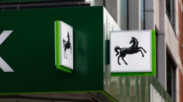 Lloyds bank sign on branch