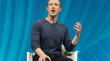 Zuckerberg on stage
