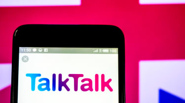 TalkTalk logo on a phone