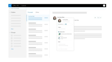 LinkedIn integrated into Outlook