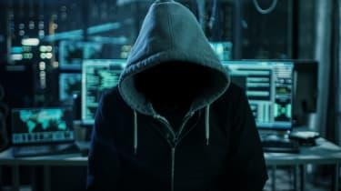 Hacker in a hoddie