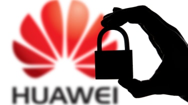Huawei logo and padlock