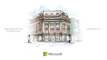 Microsoft Store London sketch