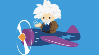 Einstein in a plane
