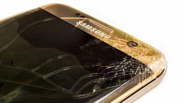 Cracked Samsung device