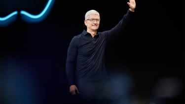 Tim Cook on stage at WWDC 2019