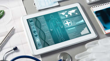 Medical software on a tablet