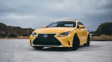 Yellow Lexus in California