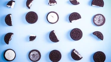 Broken Oreo biscuits (Mondelez owns Oreo)