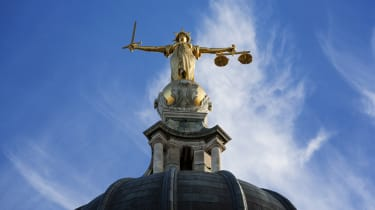 Golden lady justice on top of the Central Criminal Court London - aka the Old Bailey