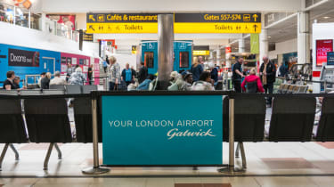 The departures terminal at London's Gatwick airport