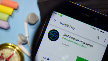 IBM Watson Workspace app on mobile phone