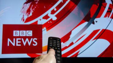 Remote control flicking through BBC news