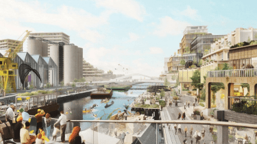 Mock up of Toronto smart city waterfront