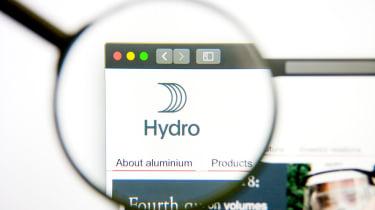 Norsk Hydro aluminium maunfacturer website logo