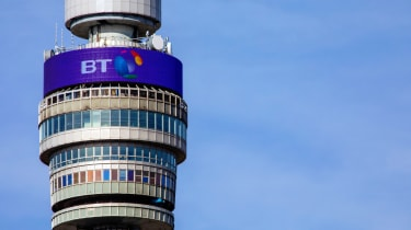 Close-up image of the BT Tower in London