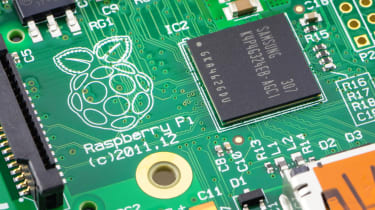 Image of Raspberry Pi running Raspbian