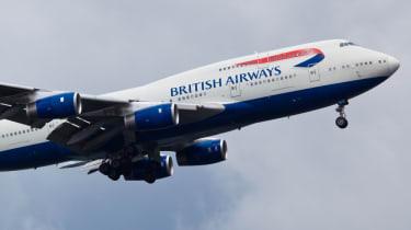 BA plane in flight