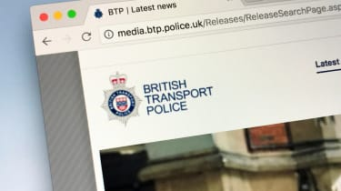 The news section on the British Transport Police's website
