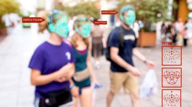 Facial recognition scanning people