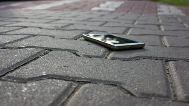 Smartphone lost on the street