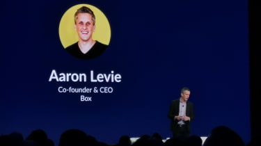 Aaron Levie on stage, Boxworks 2019